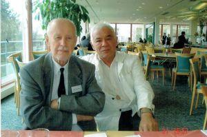 Iwan I. Agrusow (links); Prof. Marat Zachidov, Generalsekretär der ISHR
